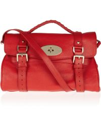 Mulberry - Textured Leather Satchel - Lyst