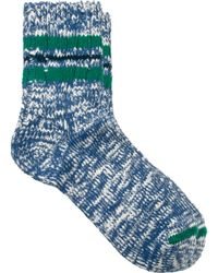 Vanishing Elephant Blue White Multi Flec Socks - Lyst