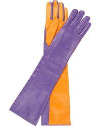M Missoni - Colorblock Leather Gloves - Lyst