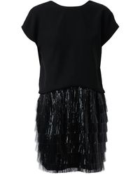 Balenciaga Fringed Draped Dress - Lyst