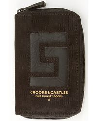 Crooks and Castles - The Reptillo Zip Wallet in Black - Lyst