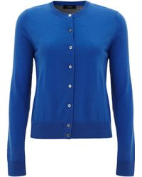 Paul Smith Black Label Blue Contrast Back Merino Cardigan - Lyst