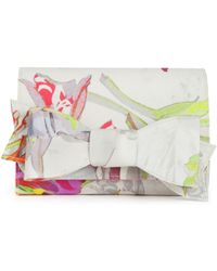 Ted Baker Sowa Orchid Bow Clutch Bag multicolor - Lyst