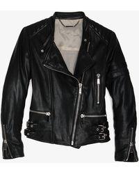 Barbara Bui Leather Biker Jacket black - Lyst