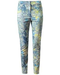 Erdem - Sidney Floral Printed Cotton Trousers - Lyst