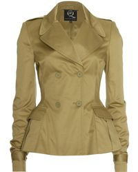 McQ by Alexander McQueen Cropped Trench Coat - Lyst