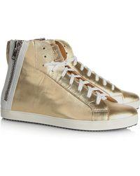 Pour La Victoire Heydi Metallic Leather Sneakers - Lyst