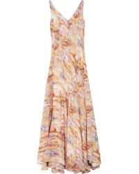 Theyskens' Theory - Watercolor-print Silk Maxi Dress - Lyst