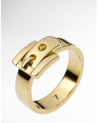Michael Kors Golden Buckle Ring Size 7 - Lyst