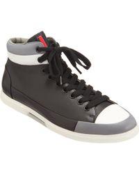 Prada Colorblock High Top Sneaker - Lyst