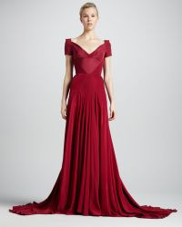 Zac Posen Off-the-shoulder Sweetheart Neck Gown - Lyst