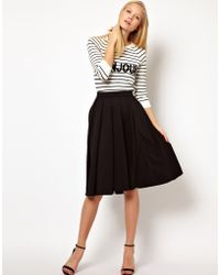 ASOS Collection Asos Full Midi Skirt with Box Pleats - Lyst