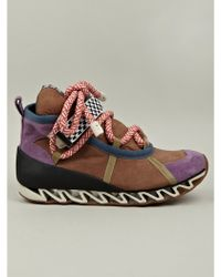 Bernhard Willhelm X Camper Together Suede Sneaker - Lyst
