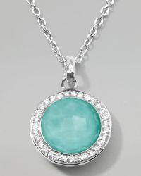 Ippolita Stella Lollipop Pendant Necklace in Turquoise Doublet with Diamonds - Lyst