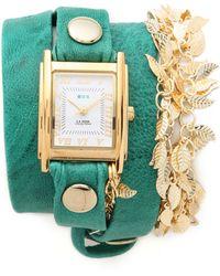 La Mer Collections - Multi Leaf Charm Wrap Watch - Lyst