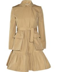 Miu Miu Flared Twill Trench Coat - Lyst
