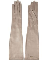Miu Miu - Long Leather Gloves - Lyst