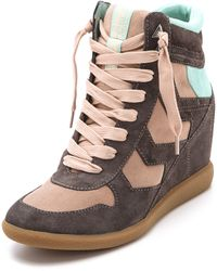 Sam Edelman Bennett Lace Up Sneakers brown - Lyst