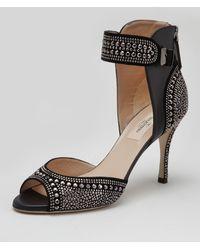 Valentino Micro Studded Anklewrap Sandal - Lyst