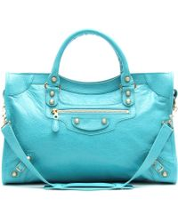 Balenciaga Giant 12 City Tote blue - Lyst