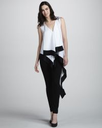 BCBGMAXAZRIA Draped Asymmetric-Hem Top - Lyst