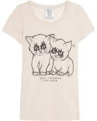 Zoe Karssen Best Friends Cotton and Modal-Blend T-Shirt - Lyst