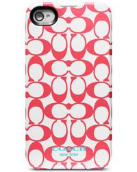 Coach Signature Iphone 4 Case - Lyst