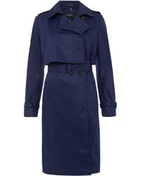 Paul Smith Black Label - Navy Belted Trench Coat - Lyst