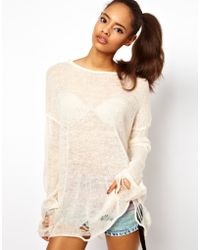 ASOS Collection Asos Slouch Jumper in Fluffy Fine Knit - Lyst