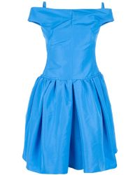 Carven Skater Dress blue - Lyst