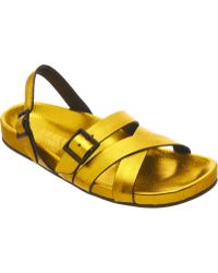 Burberry Metallic Bellgreen Sandal - Lyst