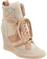 Chloé High Top Wedge Sneaker - Lyst