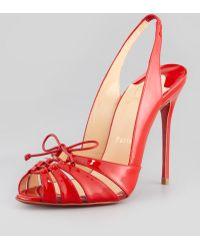 Christian Louboutin Slingback Red Sole Sandal - Lyst
