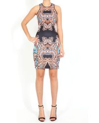 Clover Canyon Paisley Print Neoprene Dress - Lyst