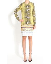 Equipment Sloane Crew Neck Jumper in Blazing Yellow Snake Print - Lyst