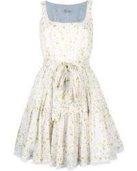 RED Valentino Daisy Print Dress - Lyst