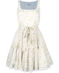 RED Valentino Daisy Print Dress white - Lyst