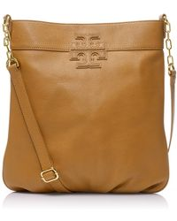 Tory Burch Stacked T Leather Book Bag - Lyst
