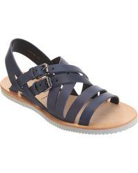Alexander McQueen Double Buckle Sandal - Lyst