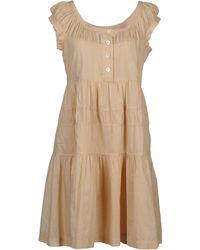 Aspesi Short Dresses - Lyst