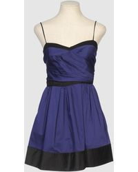 Cynthia Rowley Short Dress - Lyst