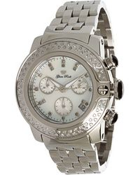 Glam Rock - Lady Sobe 40mm Stainless Steel Chronograph Watch with Diamonds - Lyst