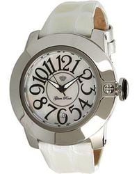 Glam Rock - Sobe 44mm Stainless Steel Watch with Patent Strap - Lyst
