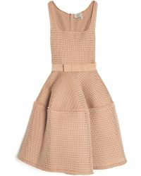 Lanvin Sleeveless Techno Flare Dress - Lyst