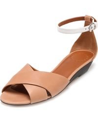 Marc By Marc Jacobs Low Wedge Sandals - Lyst