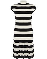 Ralph Lauren Blue Label - Stripe Dress - Lyst