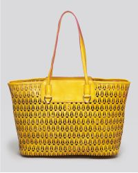 Sam Edelman Yellow Perforated Tote - Lyst