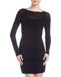 T By Alexander Wang Striped Knit Tunic Dress - Lyst