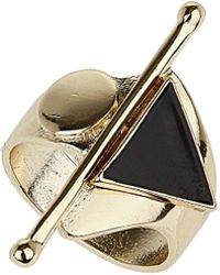 TOPSHOP - Triangle Circle Band Ring - Lyst