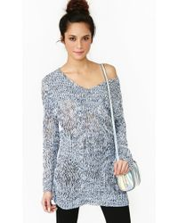 Nasty Gal Haven Knit Blue - Lyst